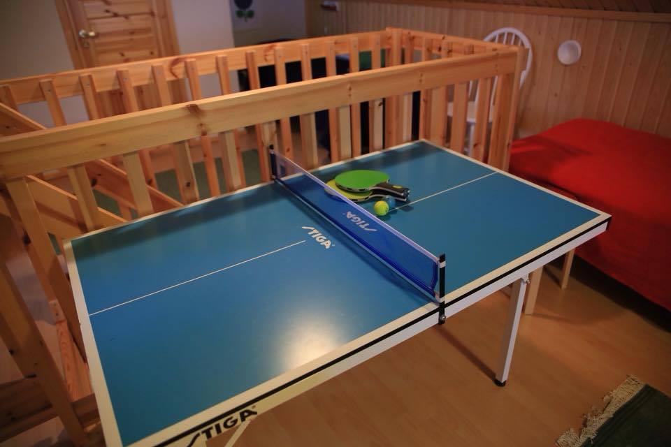 Mini table tennis  log cabin Lapland