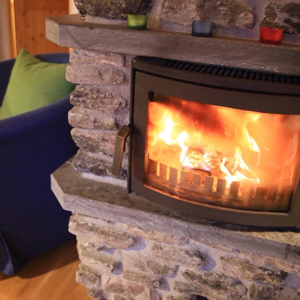 Fire place log cabin Lapland