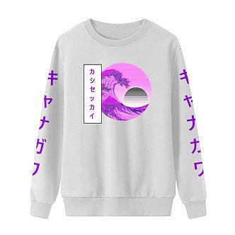 """Kanagawa's Waves"" Pullover Sweatshirt"