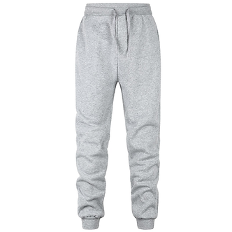 Solid Light Gray Colored Comfort Joggers