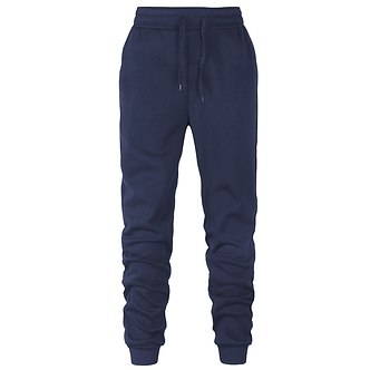 Solid Navy Blue Colored Comfort Joggers