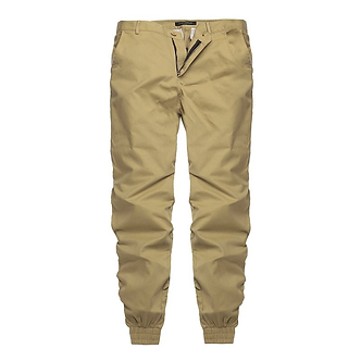 Solid Khaki Colored Cargo Styled Joggers