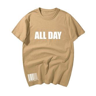 Tan All Day Tee Shirt Streetwear Trendy