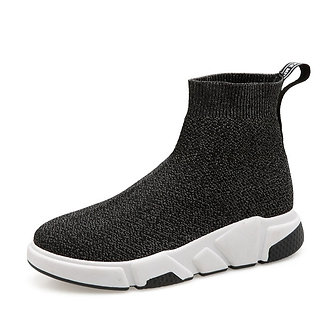 Black and White Comfort Sport Shoes