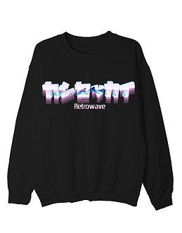 """Retrowave"" Pullover Crewneck Shirt"