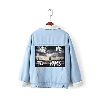'Take Me To Paris' Denim Jacket