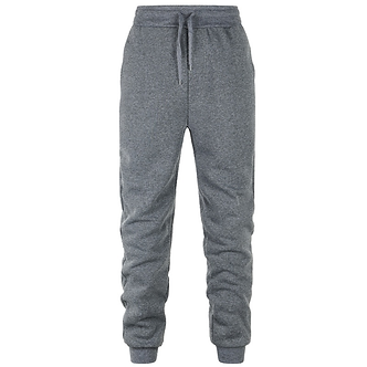 Solid Dark Gray Colored Comfort Joggers