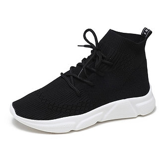 Black and White Comfort Sock Shoes