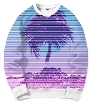 Palm Beach Snythwave Chillwave Crew Neck Kashisekai Vaporwave Aesthetic Clothing