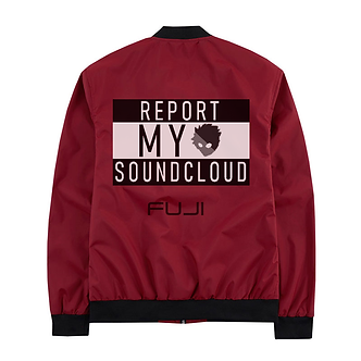 """Report My Soundcloud"" Red Windbreaker Jacket"