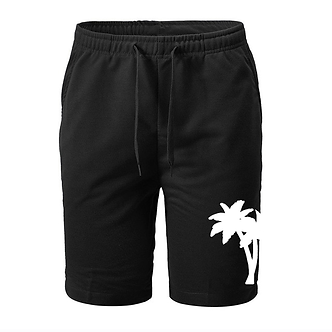 'Relaxation Palm Tree' Graphic Fleece Shorts