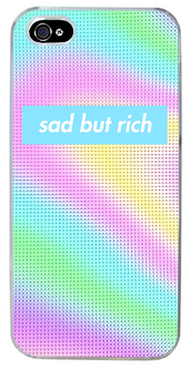 "Vapor styled ""Sad But Rich"" Phone Case"