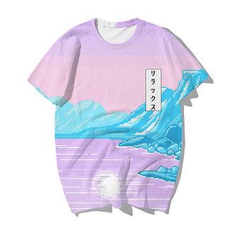 Frozen Age Synthwave Chillwave Vaporwave Allover Print Shirt Japanesed