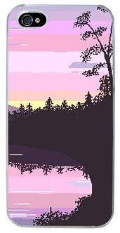 Mystic Lake Aesthetic Phone Case Vaporwave
