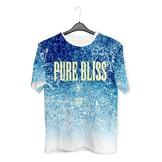 """""""PURE BLISS"""" Allover Print Tee"""