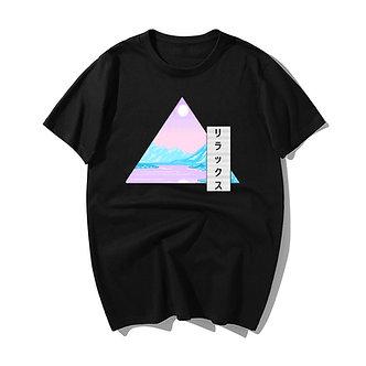 """Relaxed Vaporwave"" Tee Shirt"