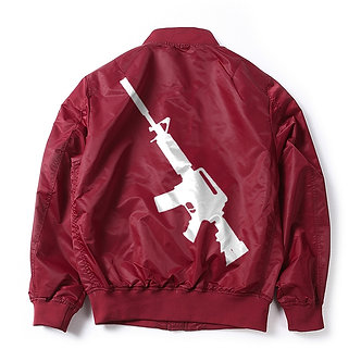 Red Soldier Flight Bomber Jacket
