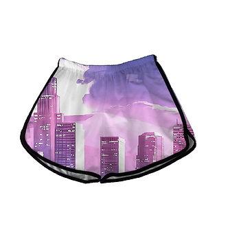 City Lights Women's Shorts Kashisekai Vaporwave Aesthetic Clothing