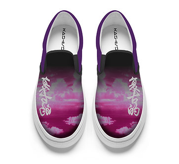 """""""Retro Cloudscape"""" Slip-on Shoes"""