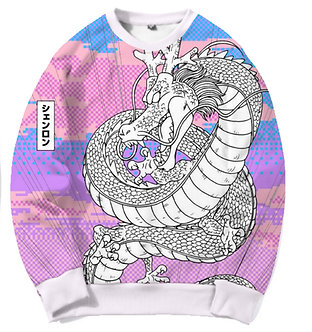 """Shen Dragon"" Allover Print Crewneck Shirt"