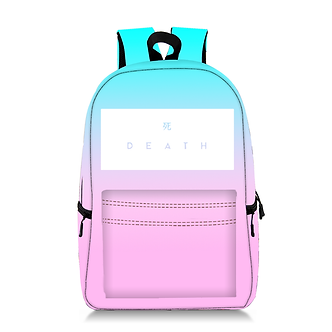 "Vapor Style ""Death"" Aesthetic School Backpack"