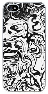 Distortion Black & White Phone Case