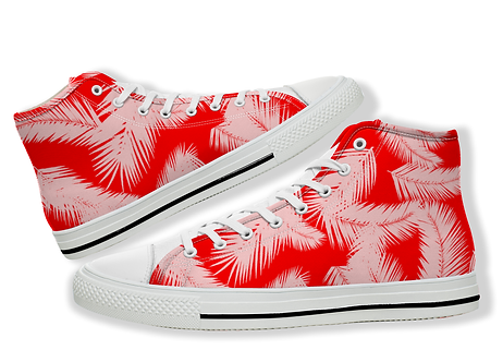 Summer Styled Palm Tree Leaf Canvas Shoes