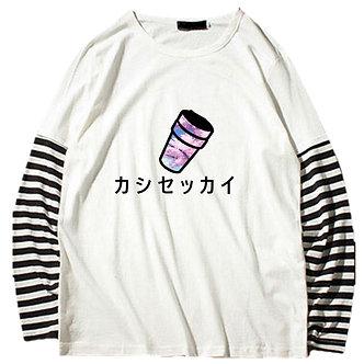 White Double Cup Asthetic Shirt Kashisekai Vaporwave  Clothing Japanese