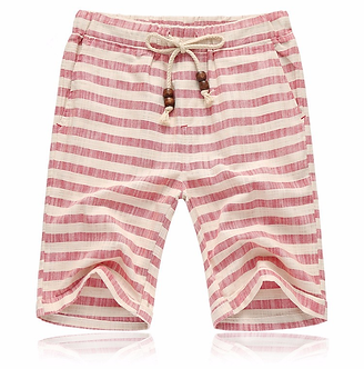 Striped Red Beach Styled Shorts