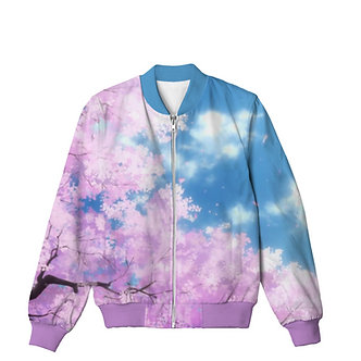 Morning Bloom Synthwave Chillwave Vaporwave Allover Print Bomber Jacket