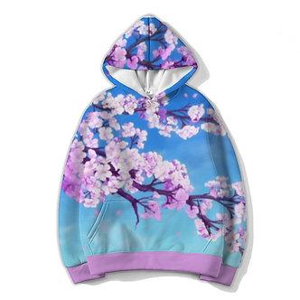 Sakura Aesthetic Allover Print Hoodie
