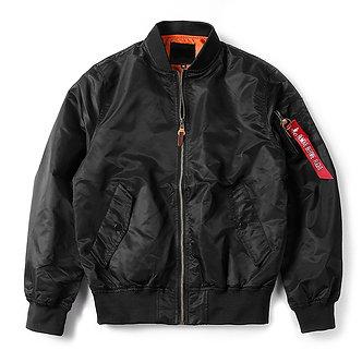 Black Flight Bomber Jacket