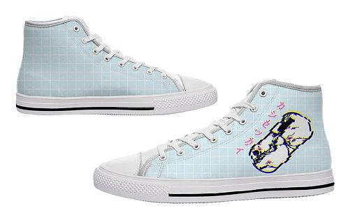 Kashisekai Glitchwave Casual Canvas Shoes