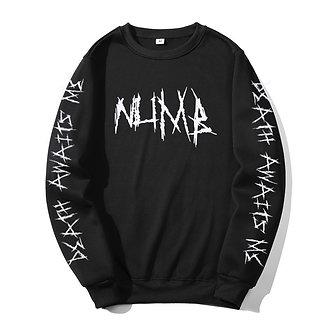 Black Pullover Sweat Shirt Death Awaits Me