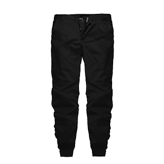Solid Black Colored Cargo Styled Joggers