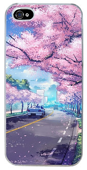Sakura Morning Bloom Aesthetic Phone Case Vaporwave