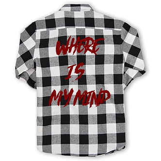 """""""Where Is My Mind""""Long sleeved Graphic Flannel Shirt"""