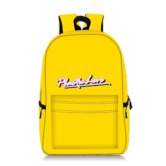 "Yellow ""Plastic Love"" School Backpack"