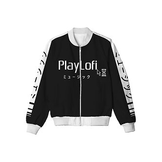 """Playlofi"" Allover Print Jacket"