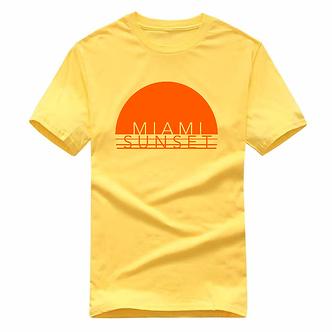 """Miami Sunset"" Short Sleeved Graphic Shirt"