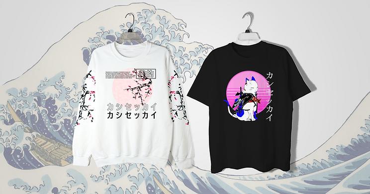 Kashisekai Vaporwave Shirts