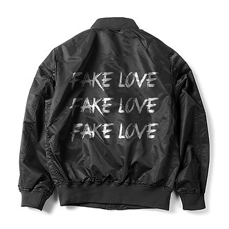 Black Fake Love Bomber Jacket