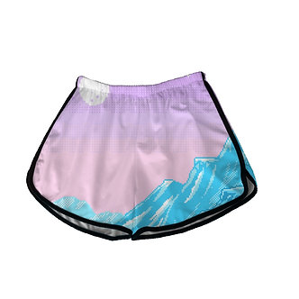 Blue Glacier Vaporwave Shorts Kashiekai Retro Vibe Aesthetic Clothing