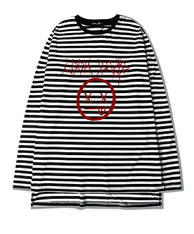 """Look Dead"" Graphic Striped Tee"