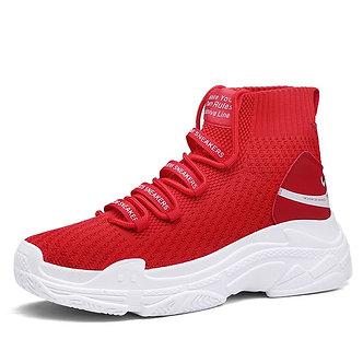 Red Hightop platform Hype Sneakers