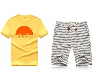 """Miami Sunset"" Shirt & Shorts Bundle"