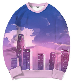 """""""City Limits"""" Allover Print Crewneck Shirt"""