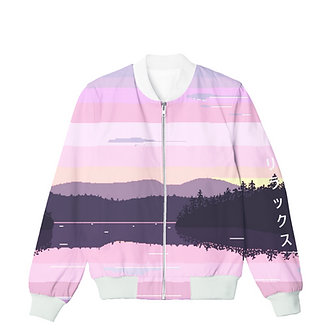 Mystic Lake Synthwave Allover Print Shirt Japanese