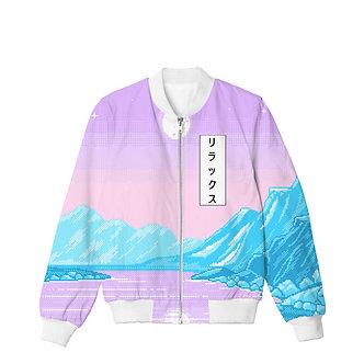Frozen Age Vaporwave Allover Print Bomber Jacket