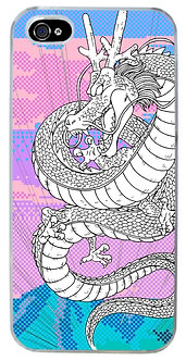 Shen Dragon Aesthetic Phone Case Vaporwave